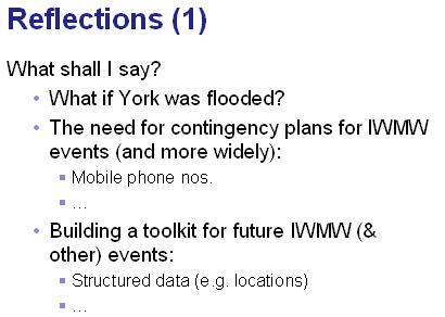 IWMW 2007 slide