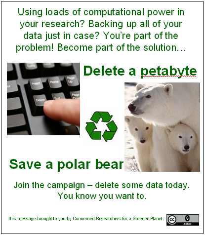 Save a Polar Bear campaign poster