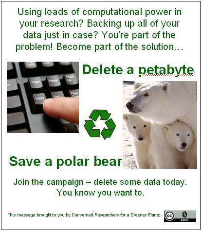 Save a Polar Bear campaign poster