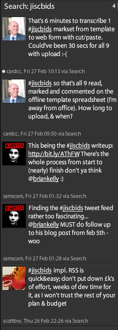 Examples of Twitter posts tagged 'jiscbids'