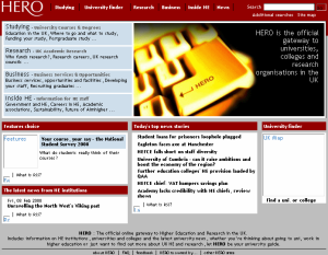 Hero home page (from Internet Archive)
