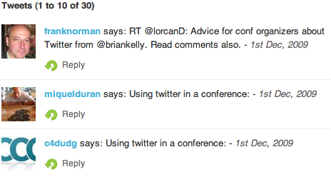 Summary of tweets linking to this blog