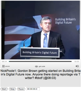 Captioned video of Gordon Brown's talk