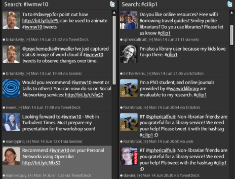 Columns in TweetDeck