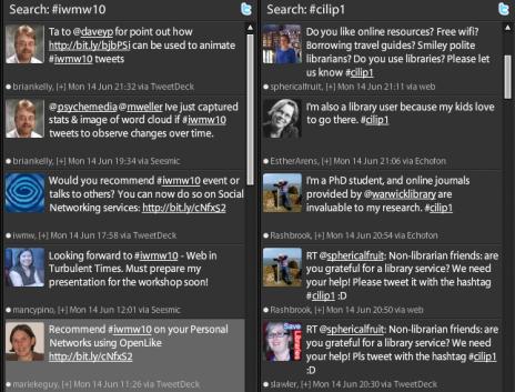 Columns in TweetDeck