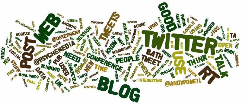 Twitter Wordle for tweets posted by BrianKelly