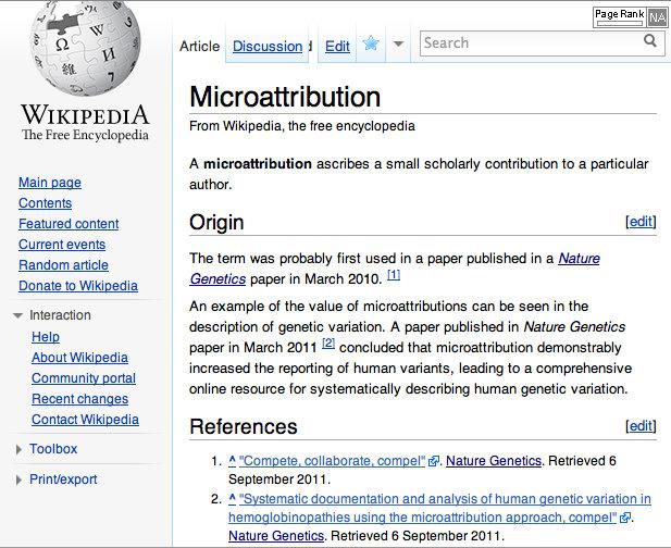 Microattribution