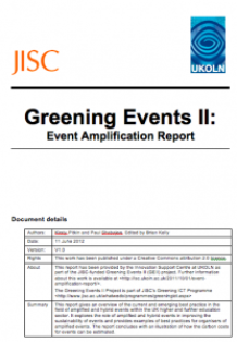 greening events 2 report title page