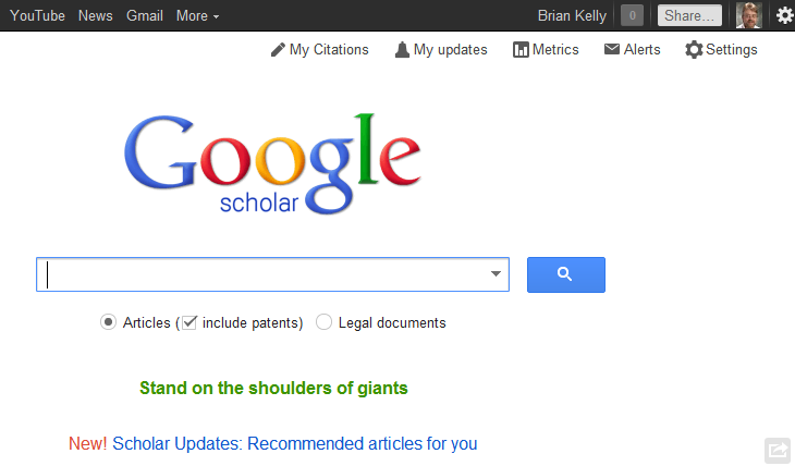 """How I Learnt That """"Google Scholar Has New Updates"""""""