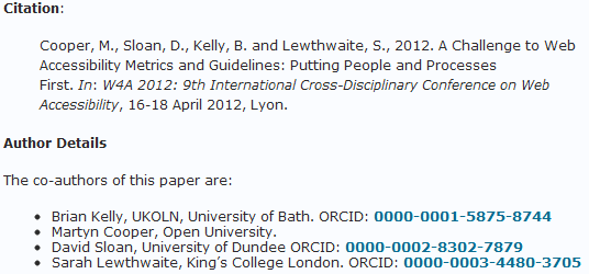 Why You Should Do More Than Simply Claiming Your ORCID ID (2/4)