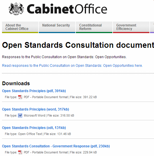 government standards consultation