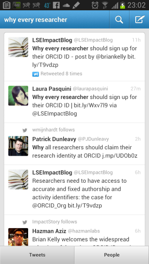 "Tweets saying ""every researcher should claim their ORCID ID"""