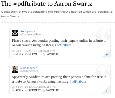 Storify summary of #pdftribute tweets