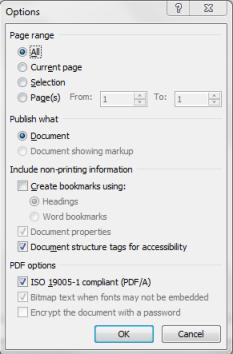 Savie as PDF option in MS Word