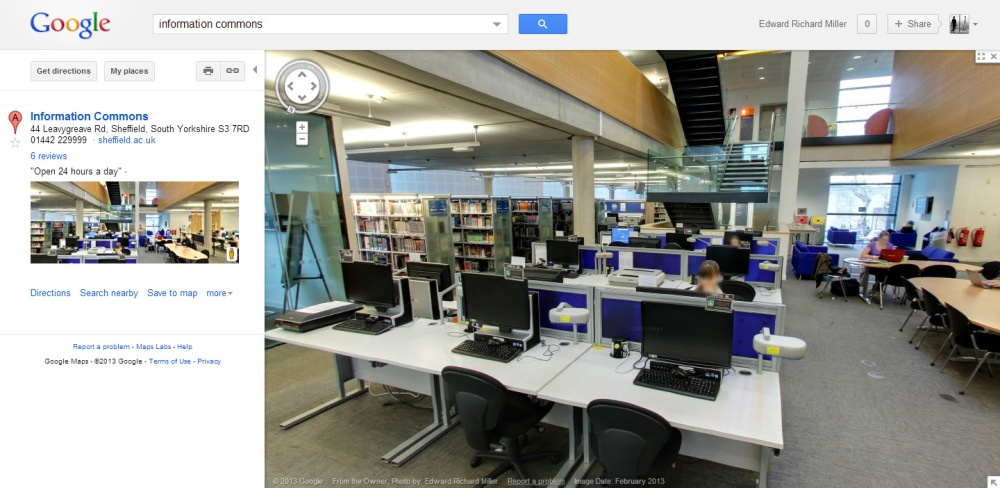 Guest Post: Opening up University Space online using Google Street View (1/2)