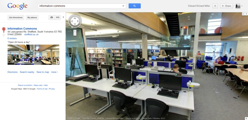 Guest Post: Opening up University Space online using Google Street View