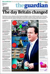 guardian front cover on 1 April 2013