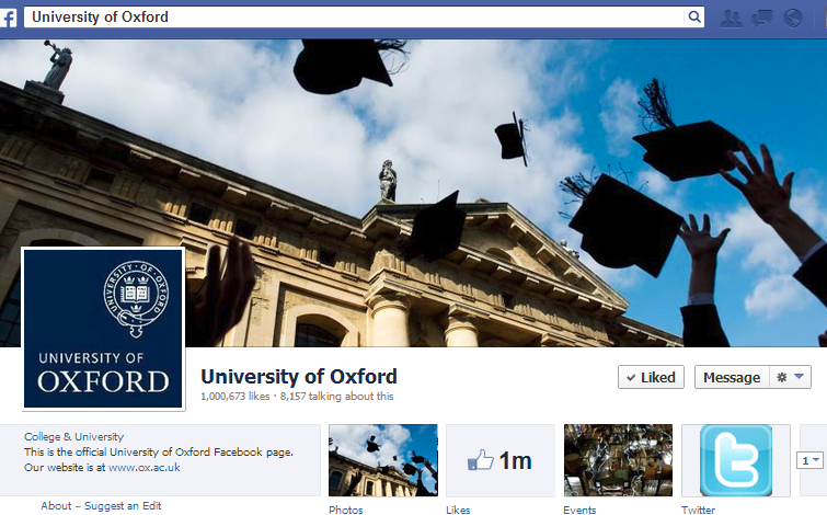 Oxford University on Facebook