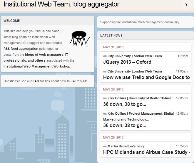 IWTB: Institutional Web Team blog aggregator