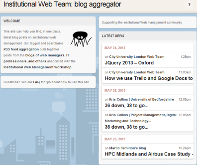 IWTB: Institutional Web Team blog aggregator
