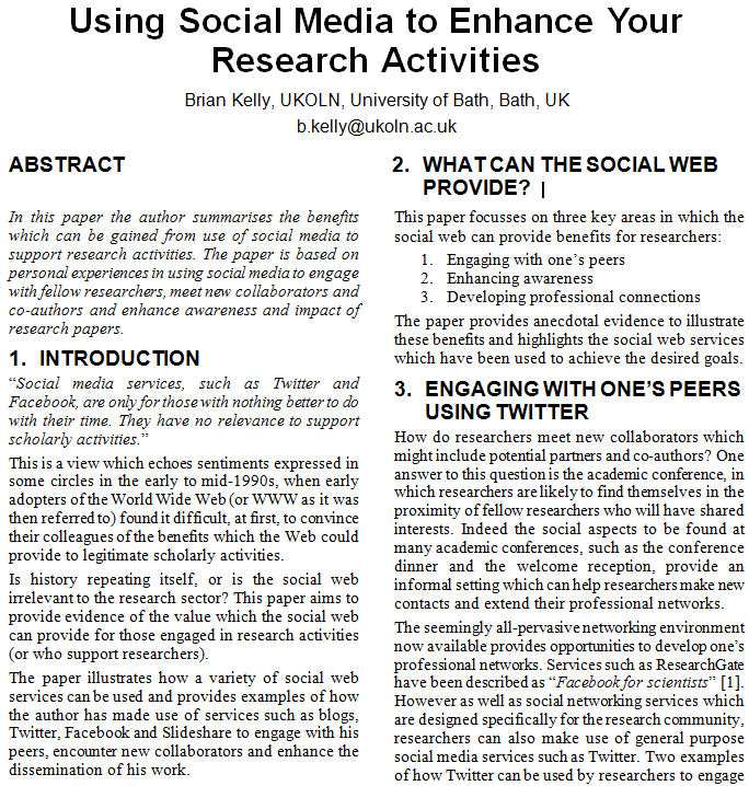 In papers research science social writing