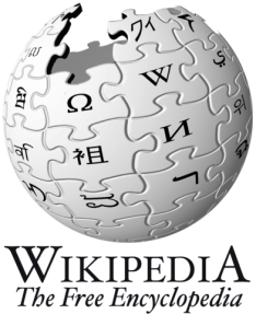 Wikipedia logo. Used with a CC-By licence from Wikimedia Commons.