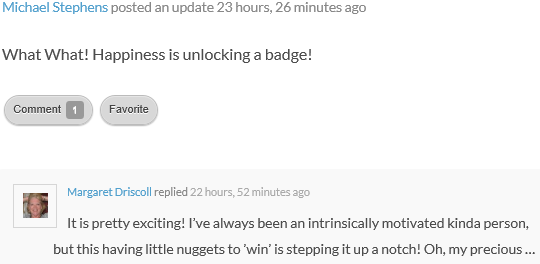 Post on unlocking badges