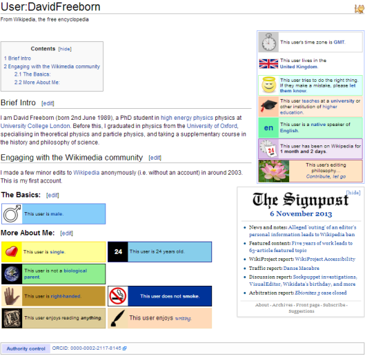 David Freeborn's user profile