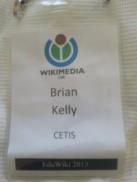 EduWiki 2013 conference badge