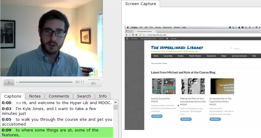 Captioning of the hyperlinked-library-mooc