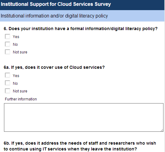 Ubfirmatuion Literacy Policy Survey