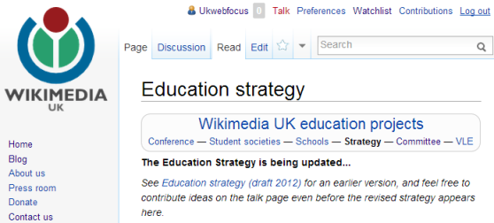 WMUK education strategy
