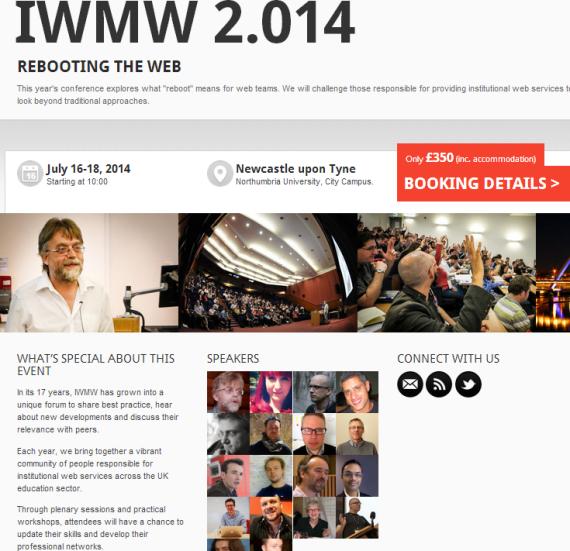 IWMW 2014 home page