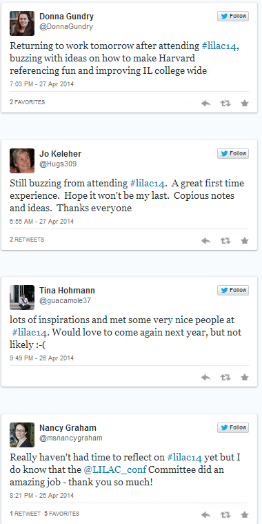 Storify summary of LILAC 2014 conference tweets
