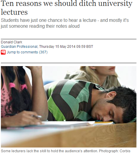 10 reasons to ditch lectures