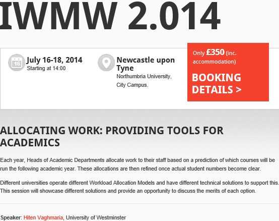 Talk by Hiten Vaghmaria at IWMW 2014