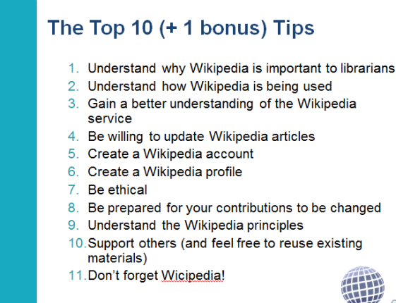 The top Wikipedia tips for librarians