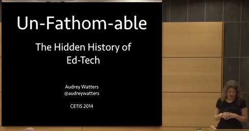 Audrey Waters keynote talk at Cetis 2014
