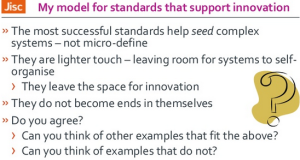 Phil Richards Cetis talk: Standards conclusions