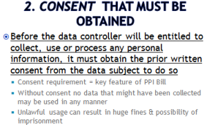 """Consent that must be obtained"""