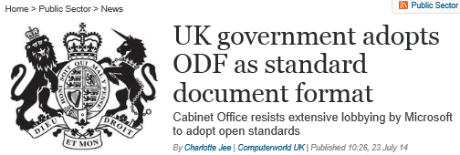 UK Goverment policy on ODF
