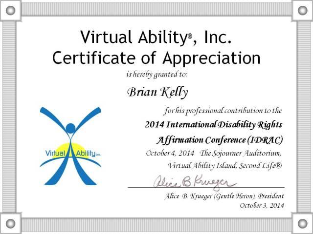 Brian Kelly: IDRAC badge