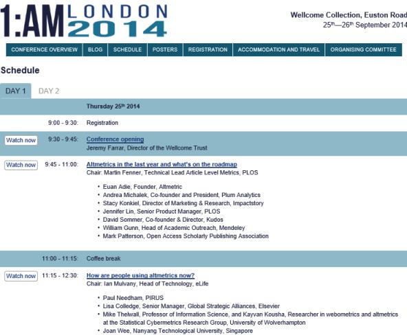 1:am ALtmetris conference