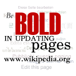 Be bold! image (from Wikipedia)