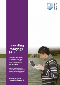 Innovating Pedagogy 2014 report