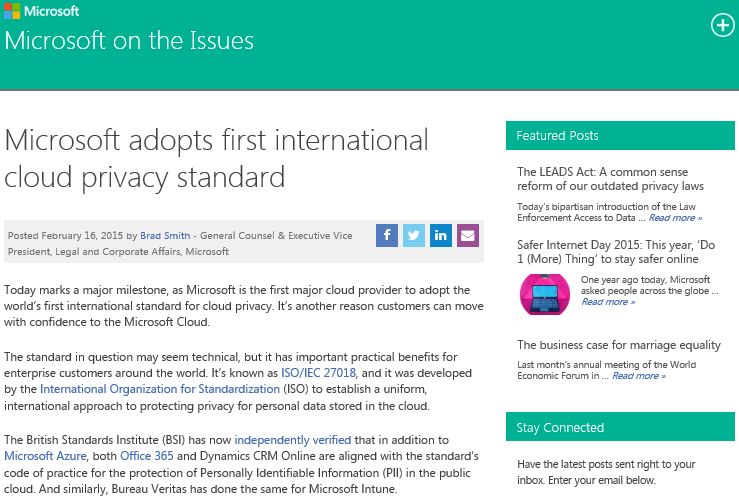microsoft-adopts-first-international-cloud-privacy-standard