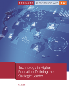 Technology in higher education: defining the strategic leader