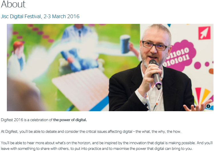 Jisc digital festival 2016