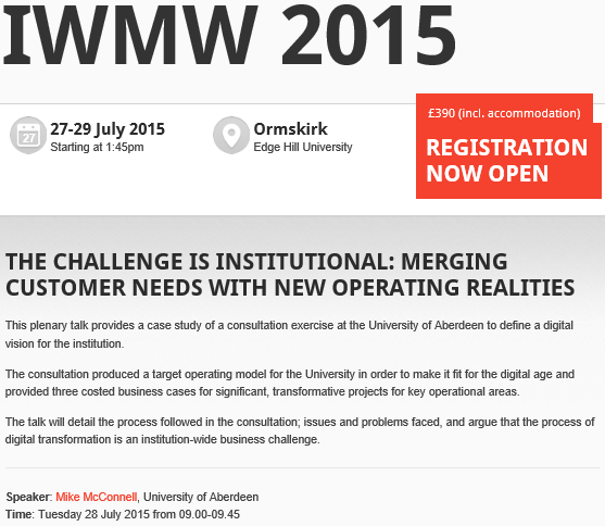 iwmw 2015: mike mcconnell