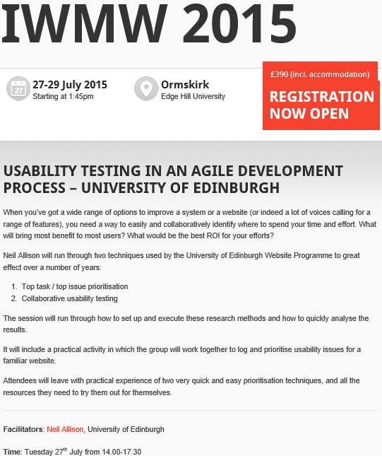 Usability testing in an agile development process